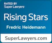 Fredric G. Heidemann's Super Lawyer Rating Badge